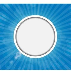 Frame on Sunny Shiny Background vector image