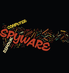 free removal of spyware text background word vector image