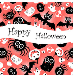 funny halloween background monsters vector image