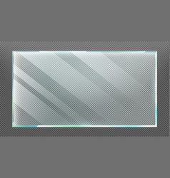 Glass frame with glares and light reflection vector