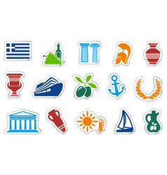 greece stickers vector image