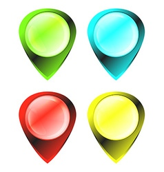 green blue red yellow glowing glossy blank tags on vector image