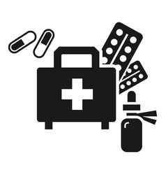 homeless first aid kit icon simple style vector image