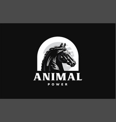 horse galloping vector image