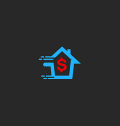 house money sell agency business logo vector image