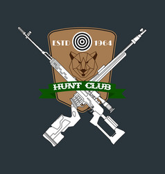 Hunter club emblem vector