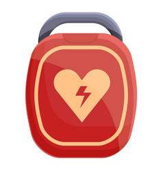 Hypertension defibrillator icon cartoon style vector