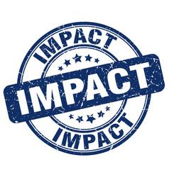 Impact blue grunge stamp vector