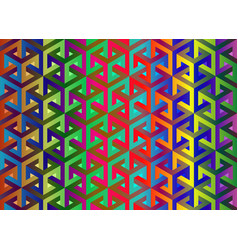Impossible cubes pattern isometric background vector