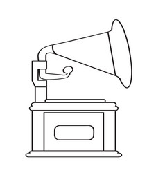 Isolated phonograph icon vector