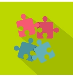 Jigsaw puzzles icon flat style vector