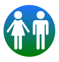 male and female sign white icon in bluish vector image