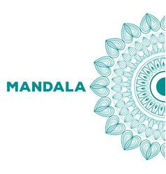 mandala indian emblem vector image