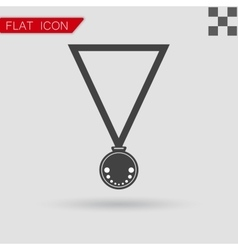 Medal Icon Flat Style with red vector image
