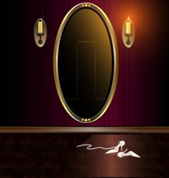 Mirror and shoes vector