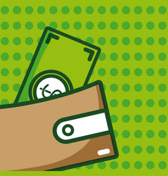 money and wallet vector image