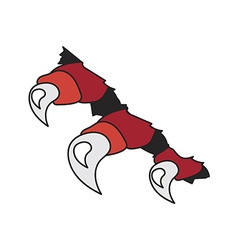monsters or dragon red claws in crack vector image