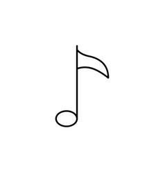 music note key outline icon signs and symbols can vector image