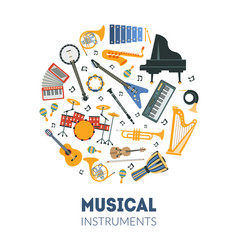 Musical instruments banner template with seamless vector