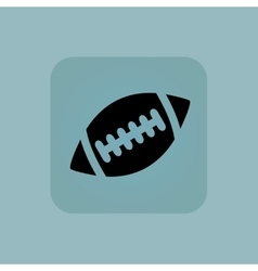 Pale blue rugby icon vector