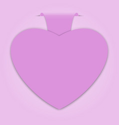 paper label with heart shape vector image