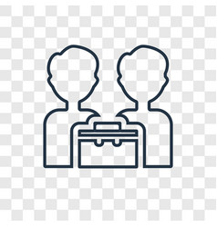 partner concept linear icon isolated on vector image