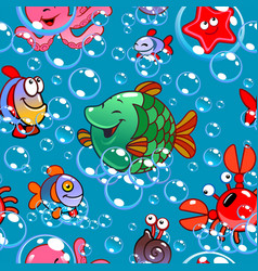 patern with fish vector image