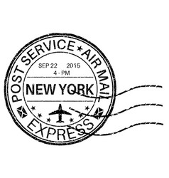 Postmark new york vector