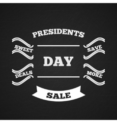 Presidents Day Sale Typography vector image