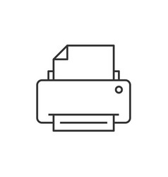 printer outline icon vector image