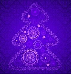 Purple Christmas Tree vector