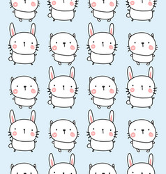 Rabbit and bunyn pattern vector