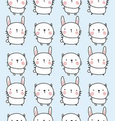 rabbit and bunyn pattern vector image