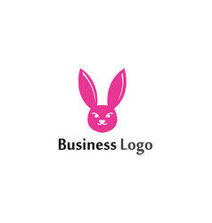 rabbit logo template icon design template app vector image