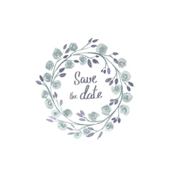 save date lettering in a frame watercolor vector image
