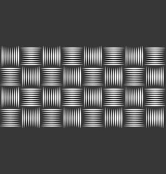 Seamless weaving pattern linear background with vector