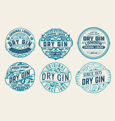 Set of 6 labels or badges for packing vector