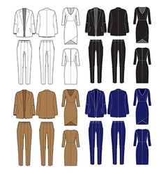 set of womens clothes vector image