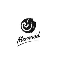 sexy fish woman mermaid for bar pub or strip club vector image