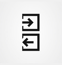 Sign in sign out login and logout icon vector