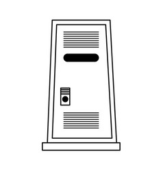 Single locker icon image vector