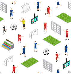 soccer stadium competition seamless pattern vector image