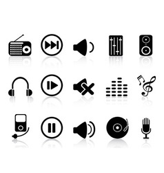 Sound icons set vector