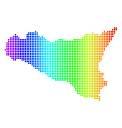 spectrum dot sicilia map vector image