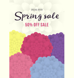 spring sale banner sale poster sale flyer with vector image