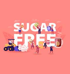 Sugar free concept people eating natural vector