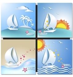 Summer vacation design set vector image