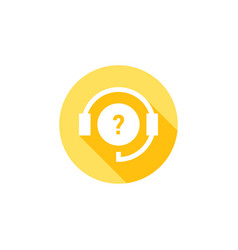 Support icon online questions online icon vector