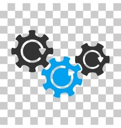 Transmission Gears Rotation Icon vector