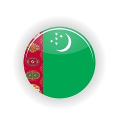 Turkmenistan icon circle vector image
